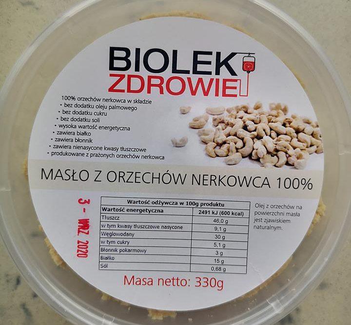 Masło z orzechów nerkowca 330gram